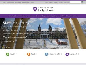 College of the Holy Cross's Website Screenshot
