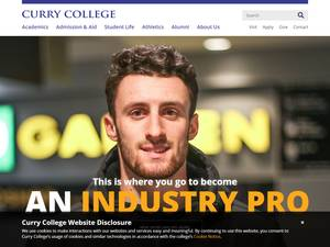 Curry College's Website Screenshot