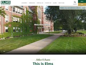 College of Our Lady of the Elms's Website Screenshot