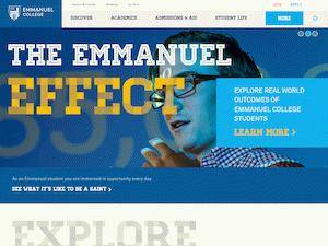 Emmanuel College's Website Screenshot