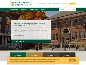 Fitchburg State University's Website Screenshot