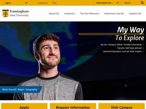 Framingham State University's Website Screenshot