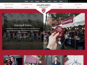 Harvard University's Website Screenshot