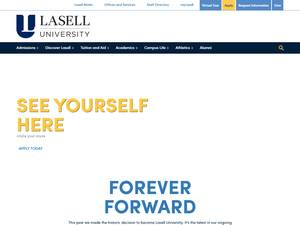 Lasell University's Website Screenshot