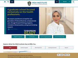 MGH Institute of Health Professions's Website Screenshot