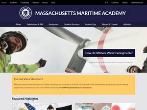 Massachusetts Maritime Academy's Website Screenshot