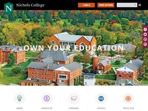 Nichols College's Website Screenshot