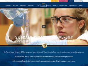 St. Francis Xavier University Screenshot