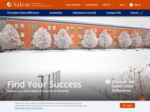Salem State University's Website Screenshot