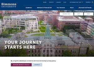 Simmons University's Website Screenshot