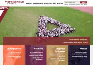 Springfield College's Website Screenshot