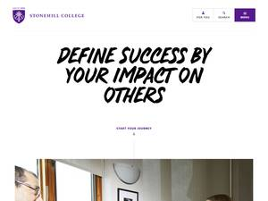 Stonehill College's Website Screenshot