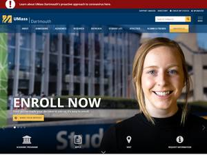 University of Massachusetts Dartmouth's Website Screenshot