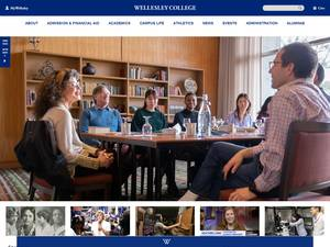 Wellesley College's Website Screenshot