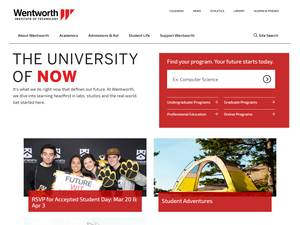 Wentworth Institute of Technology's Website Screenshot