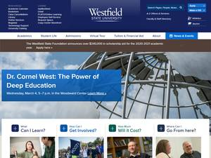 Westfield State University's Website Screenshot