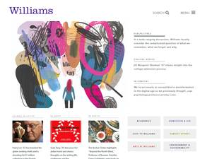 Williams College's Website Screenshot