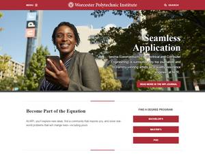 Worcester Polytechnic Institute Screenshot