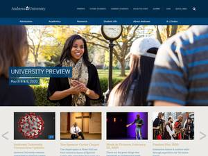 Andrews University's Website Screenshot