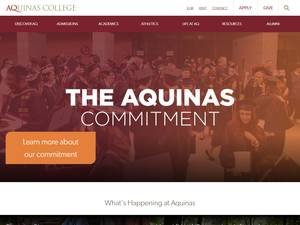 Aquinas College's Website Screenshot