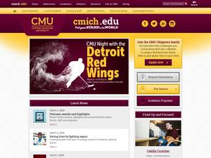 Central Michigan University's Website Screenshot