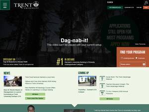 Trent University's Website Screenshot
