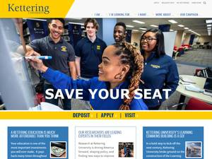Kettering University's Website Screenshot