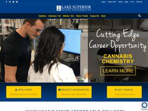 Lake Superior State University's Website Screenshot
