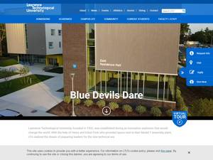 Lawrence Technological University's Website Screenshot