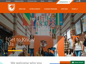 Cape Breton University's Website Screenshot