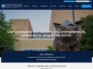 Northwood University's Website Screenshot
