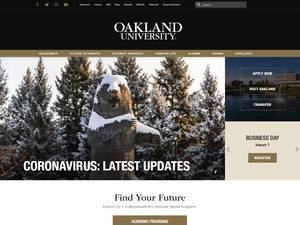 Oakland University's Website Screenshot
