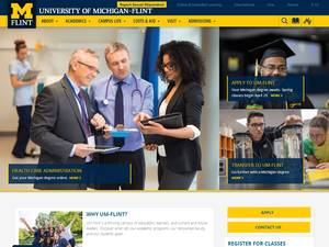 University of Michigan-Flint's Website Screenshot