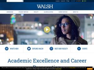 Walsh College's Website Screenshot