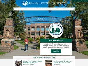 Bemidji State University's Website Screenshot