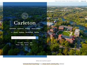 Carleton College's Website Screenshot