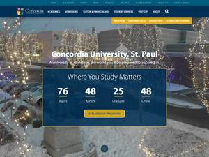 Concordia University, St. Paul's Website Screenshot
