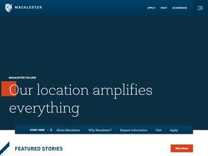 Macalester College's Website Screenshot