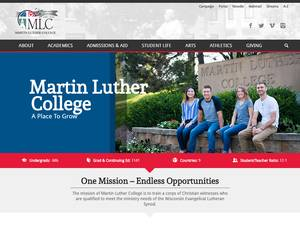 Martin Luther College's Website Screenshot