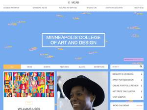 Minneapolis College of Art and Design's Website Screenshot