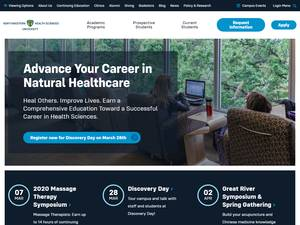 Northwestern Health Sciences University's Website Screenshot