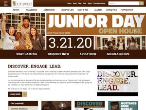 Southwest Minnesota State University's Website Screenshot