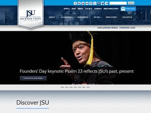 Jackson State University's Website Screenshot