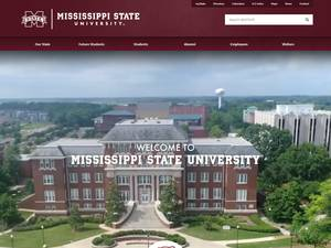 Mississippi State University's Website Screenshot