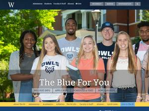 Mississippi University for Women's Website Screenshot