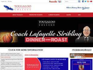 Tougaloo College's Website Screenshot