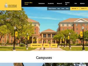 University of Southern Mississippi's Website Screenshot