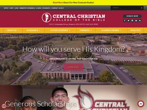 Central Christian College of the Bible's Website Screenshot
