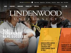 Lindenwood University's Website Screenshot