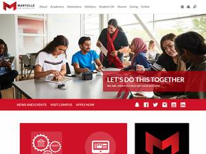 Maryville University's Website Screenshot